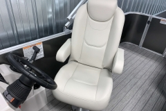 High Back Captain's Chair of a 2021 Sylvan Mirage 8520 Cruise Tritoon Boat