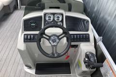 Bluetooth Jensen Stereo of a 2021 Sylvan Mirage 8520 Cruise Tritoon Boat