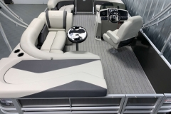 Interior Layout of a 2021 Sylvan Mirage 8520 Cruise Tritoon Boat
