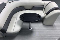 Wraparound Seating of a 2021 Sylvan Mirage 8520 Cruise Tritoon Boat
