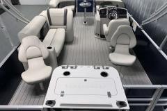 Rear Fishing Station of a 2021 Sylvan 8520 Party Fish Pontoon Boat