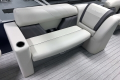 Port Side Rear Seating of a 2021 Sylvan 8520 Party Fish Pontoon Boat