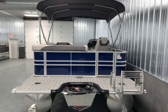 Extended Rear Deck of the 2021 Sylvan L1 Cruise Pontoon Boat