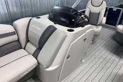 Helm Storage of the 2021 Sylvan L1 Cruise Pontoon Boat