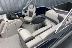 Grey Interior of the 2021 Sylvan L1 Cruise Pontoon Boat