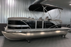 10' Bimini Top of the 2021 Sylvan L1 LZ Pontoon Boat