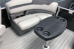 Removable Snack Table of the 2021 Sylvan L1 LZ Pontoon Boat