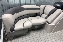 Interior Seating of the 2021 Sylvan L1 LZ Pontoon Boat