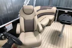 High Back Helm Chair of the 2021 Sylvan L1 LZ Pontoon Boat