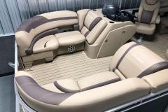 Soft Touch Vinyl Furniture of the 2021 Sylvan L1 LZ Pontoon Boat