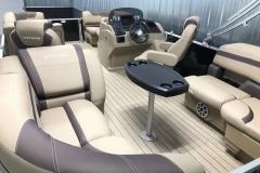Interior Rear Layout of the 2021 Sylvan L1 LZ Pontoon Boat