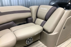 Built-In Cupholders of the 2021 Sylvan L1 LZ Pontoon Boat