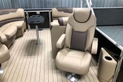 Co-Captain's Chair of the 2021 Sylvan L1 LZ Pontoon Boat