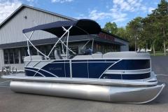 10' Bimini Top of the 2021 Sylvan L1 LZ Pontoon Boat