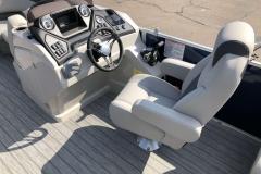 Fiberglass Helm of the 2021 Sylvan L1 LZ Pontoon Boat
