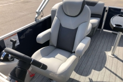 High Back Captain's Chair of the 2021 Sylvan L1 LZ Pontoon Boat