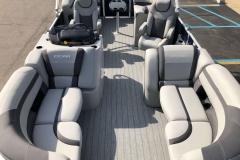 Interior Layout of the 2021 Sylvan L1 LZ Pontoon Boat