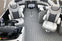 Interior Rear Layout of the 2021 Sylvan L1 LZ Pontoon Boat
