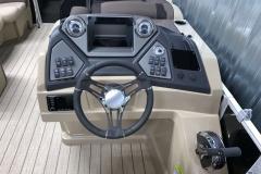 Driver's Console of a 2022 Sylvan L1 LZ Tritoon Boat