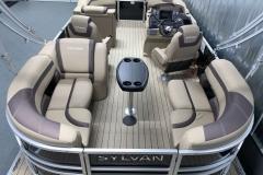 Interior Layout of a 2022 Sylvan L1 LZ Tritoon Boat