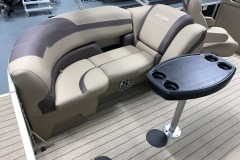 Starboard Side Rear Seating of a 2022 Sylvan L1 LZ Tritoon Boat