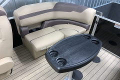 Port Side Rear Seating of a 2022 Sylvan L1 LZ Tritoon Boat