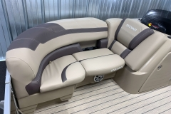 Starboard Side Bow Seating of a 2022 Sylvan L1 LZ Tritoon Boat