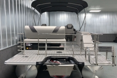Extended Rear Swim Deck of the 2021 Sylvan L3 DLZ Pontoon Boat