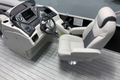 Fiberglass Helm of the 2021 Sylvan L3 DLZ Pontoon Boat