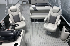 High Back Captain's Chairs of the 2021 Sylvan L3 DLZ Pontoon Boat