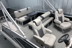 Interior Rear Layout of the 2021 Sylvan L3 DLZ Pontoon Boat