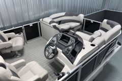 Interior Bow Layout of the 2021 Sylvan L3 DLZ Pontoon Boat