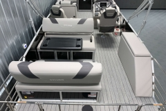 Teak Weave Vinyl Flooring of the 2021 Sylvan L3 DLZ Pontoon Boat