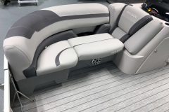 Soft Touch Vinyl Furniture of the 2021 Sylvan L3 DLZ Pontoon Boat