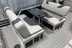 Dual Swing Back Seating of the 2021 Sylvan L3 DLZ Pontoon Boat