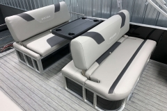 Forward Facing Swing Back Seating of the 2021 Sylvan L3 DLZ Pontoon Boat