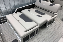 Rear DLZ Bed Lounge of the 2021 Sylvan L3 DLZ Pontoon Boat