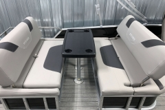 Swing Back Seating of the 2021 Sylvan L3 DLZ Pontoon Boat