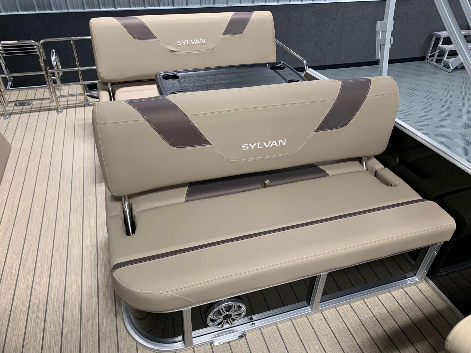 Swing Back Seating of the 2021 Sylvan L3 DLZ Pontoon Boat