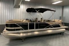 10' Bimini Top of the 2021 Sylvan L3 DLZ Pontoon Boat