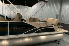 Tan Exterior Accents of the 2021 Sylvan L3 DLZ Pontoon Boat