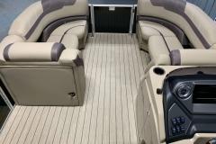 Port Side Changing Room of the 2021 Sylvan L3 DLZ Pontoon Boat