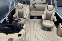 Interior Rear Layout of the 2021 Sylvan L3 DLZ Pontoon Boat