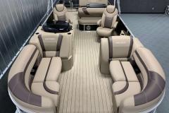 Interior Layout of the 2021 Sylvan L3 DLZ Pontoon Boat