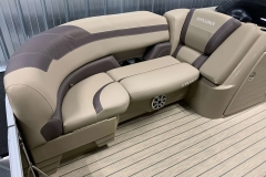 Soft Touch Vinyl Furniture of the 2021 Sylvan L3 DLZ Pontoon Boat