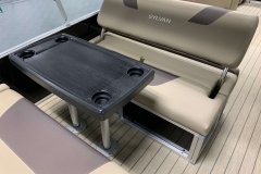 Removable Snack Table of the 2021 Sylvan L3 DLZ Pontoon Boat