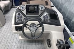 L-Series Helm of the 2022 Sylvan L3 DLZ Pontoon Boat