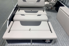 Convertible Rear Bed Lounge of the 2022 Sylvan L3 DLZ Pontoon Boat