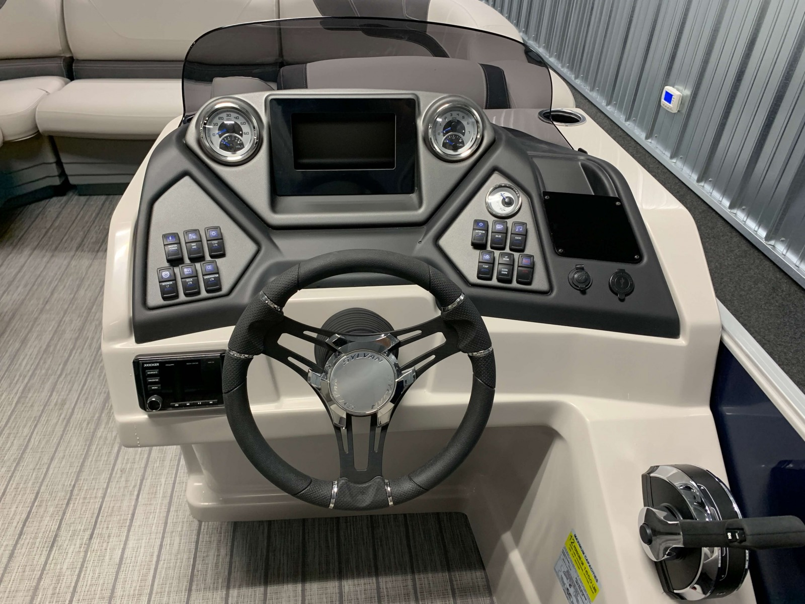 Drivers Console of the 2022 Sylvan L3 LZ Pontoon Boat