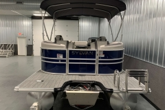 Extended Rear Swim Deck of the 2022 Sylvan L3 LZ Pontoon Boat